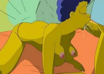 Noche de pasión y sexo entre Marge y Homer Simpsons