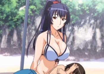 Chica tetona disfruta del sexo en la playa y en la intimidad